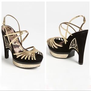 San Edelman Tillie Cut Out Heeled Sandal